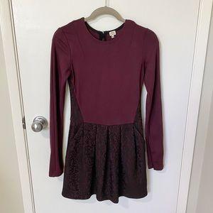 Aritzia Wilfred Fit & Flare Ponte Tartine Dress